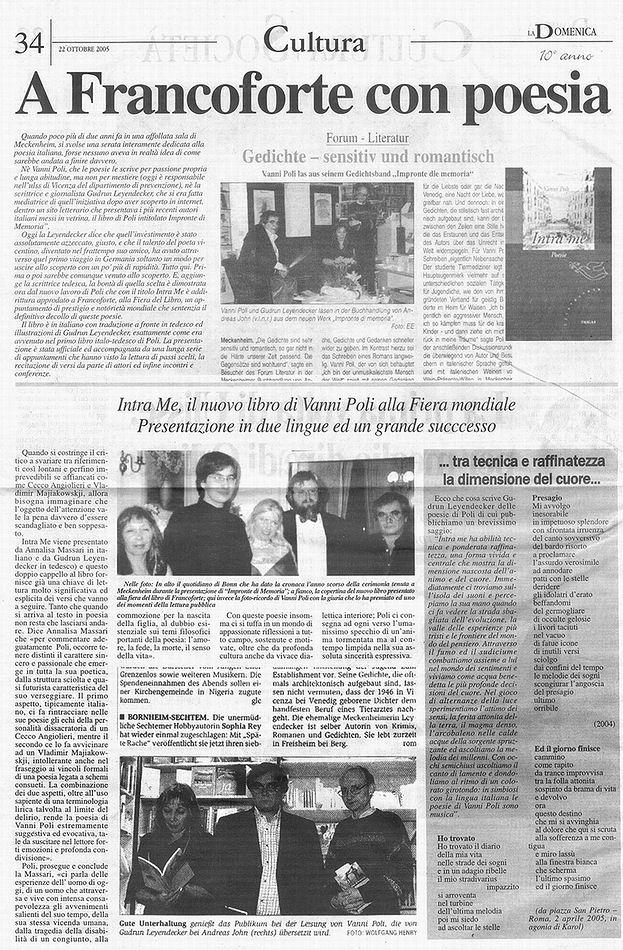 la pagina del giornale